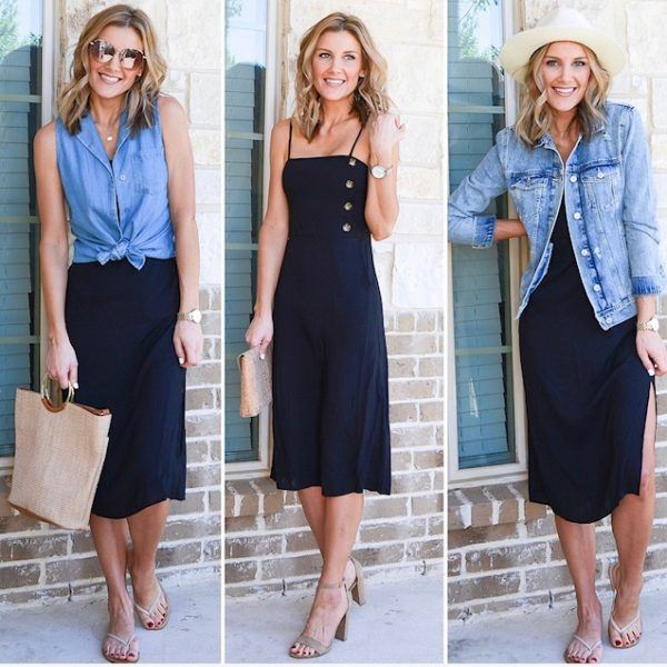 One Dress Styled 3 Ways
