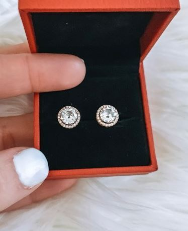Top 5 Sellers in August week 1 Rose Gold Stud earrings from Amazon