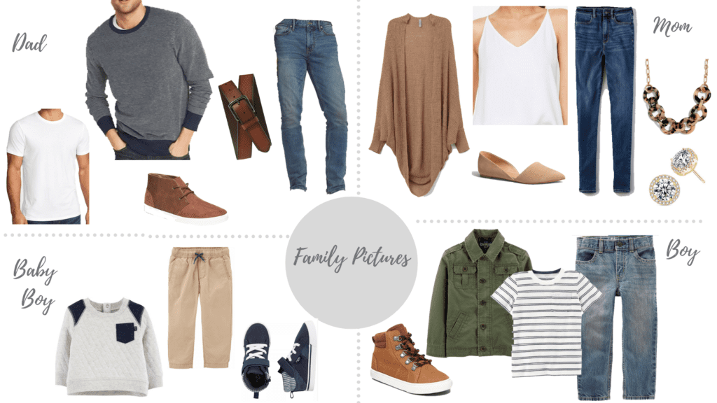 Neutral color scheme with pops of green for the family with two boys