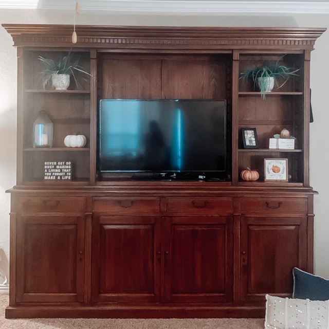 before picture of the entertainment center