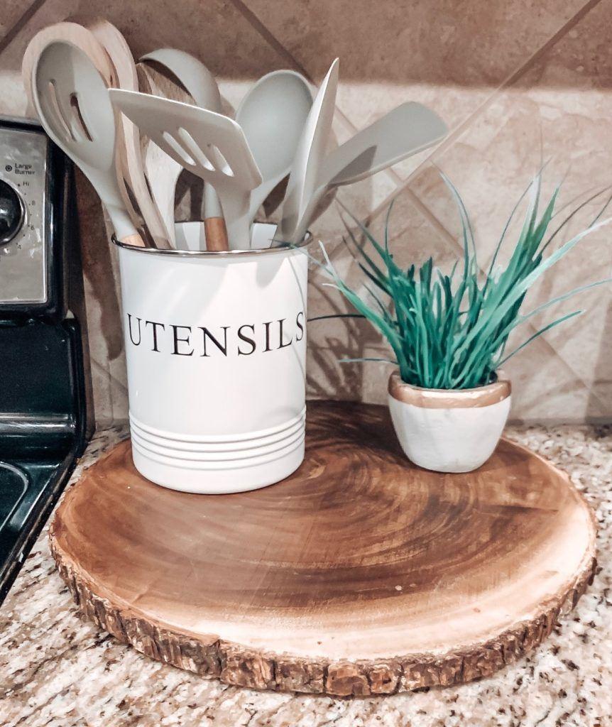 Kitchen Utensils and Utensil Holder from Amazon.