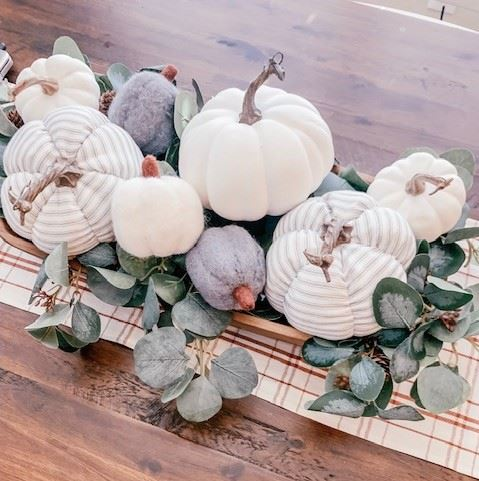 kitchen table Fall centerpiece