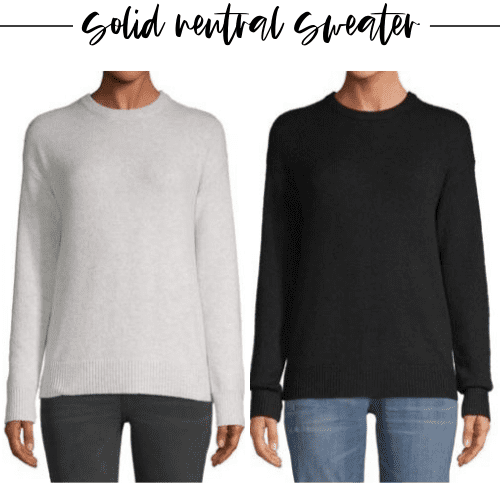 Fall staple number five is a solid neutral sweater