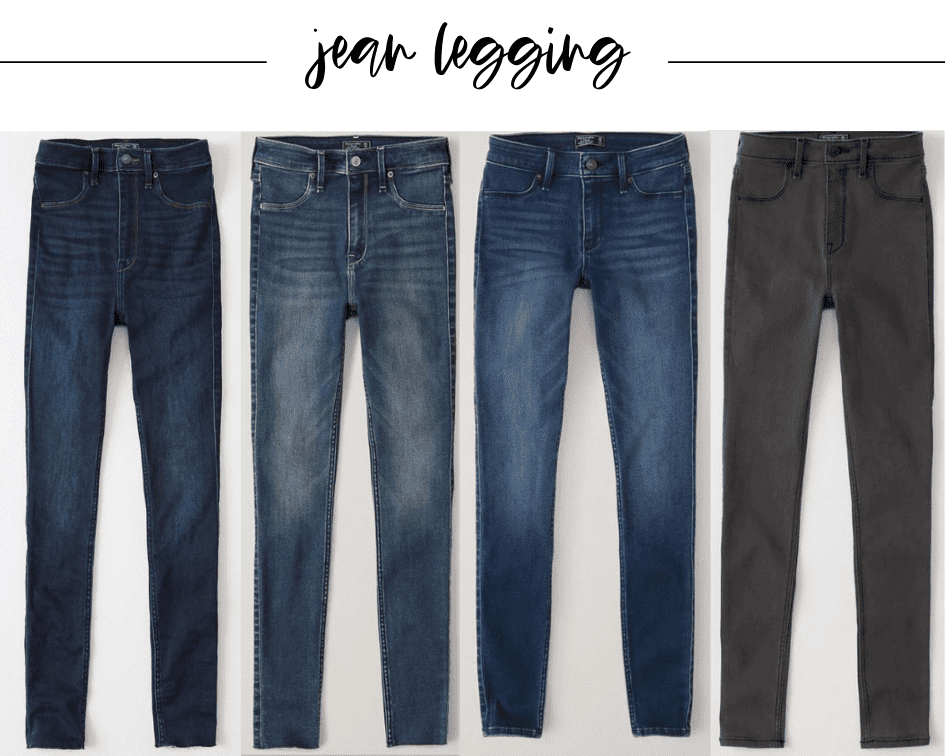 Fall staples number two is a great pair of jean leggings from abercrombie