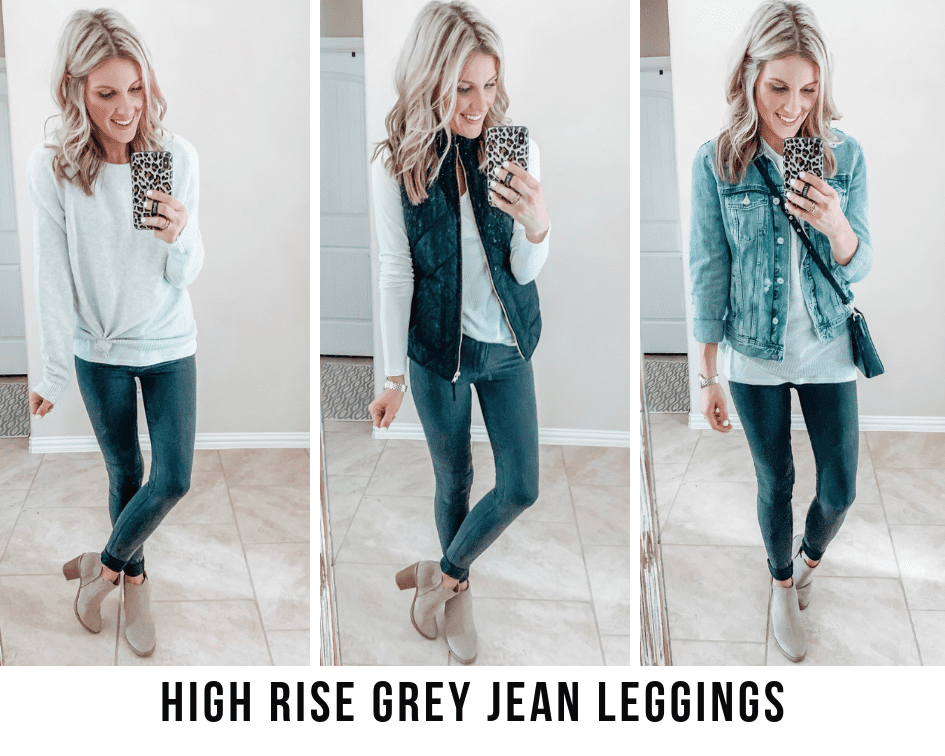 three ways on how to style high rise jean leggings from abercrombie