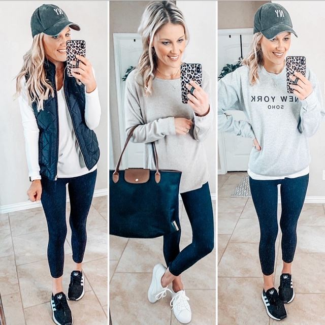 three ways to style black leggings that are casual for everyday style