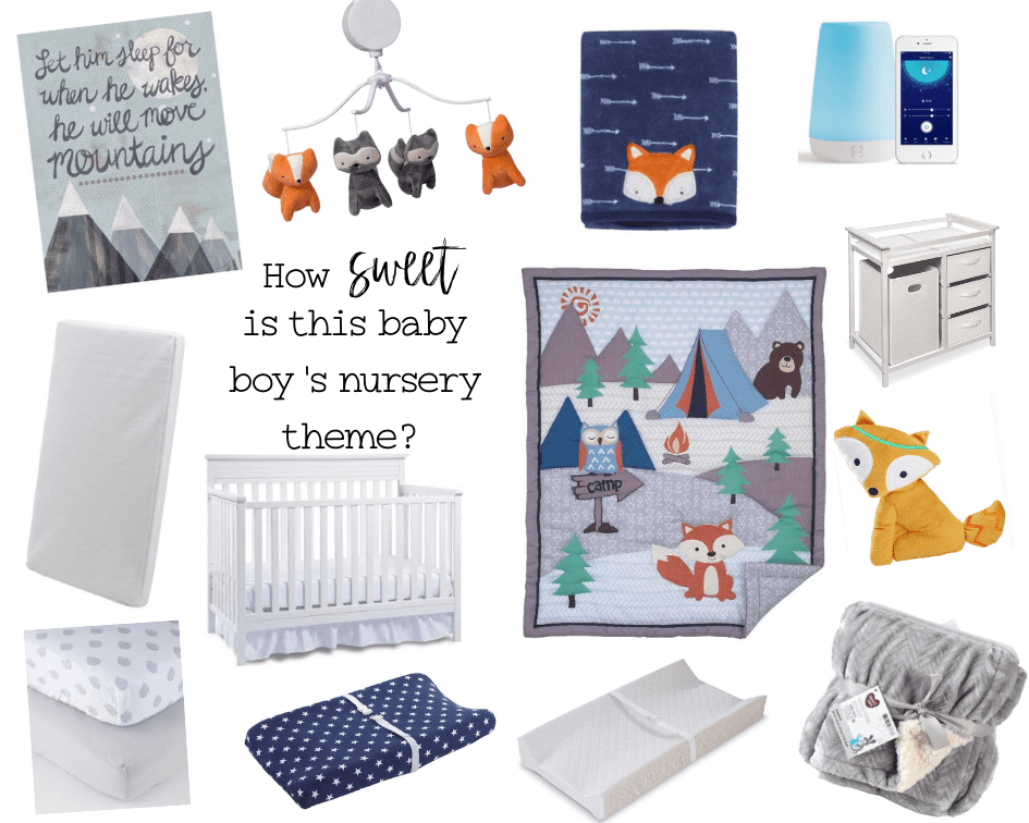 woodland theme nursery decor collage