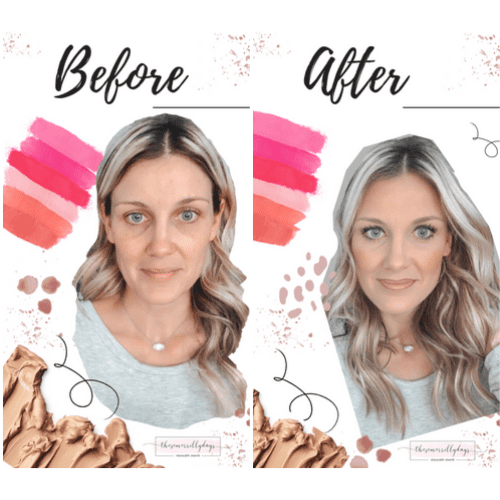 My daily makeup routine before and after