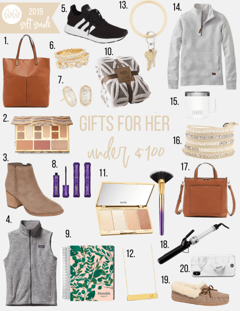 gift guide for her with items $100 and under
